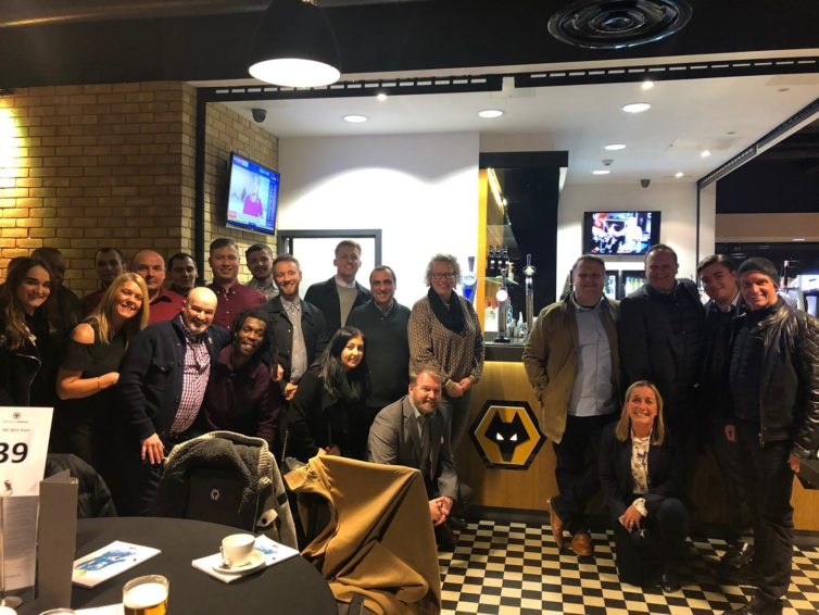 Insafe enjoy night out at Molineux Stadium to watch Wolves match