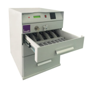 Bankers Till 3 Drawer anti-attack safe for cash and banknotes
