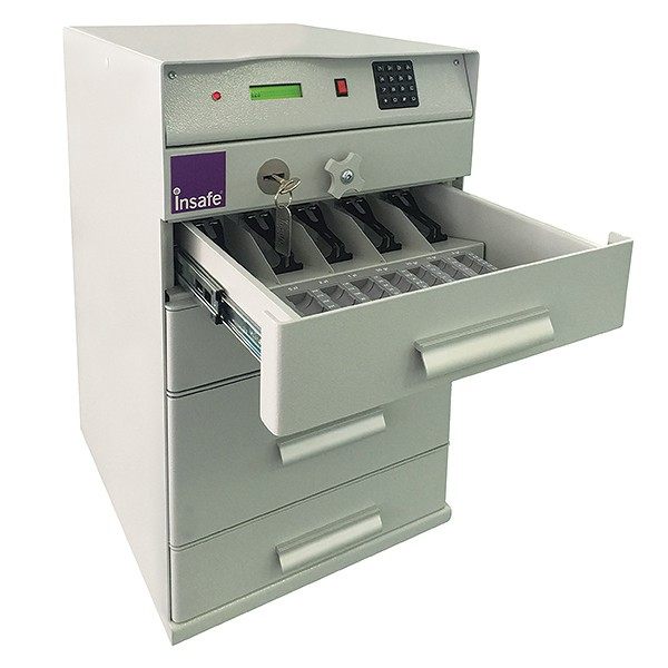 Bankers Till 4 Drawer anti-attack safe for cash and banknotes